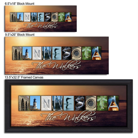 MINNESOTA - State Name Art