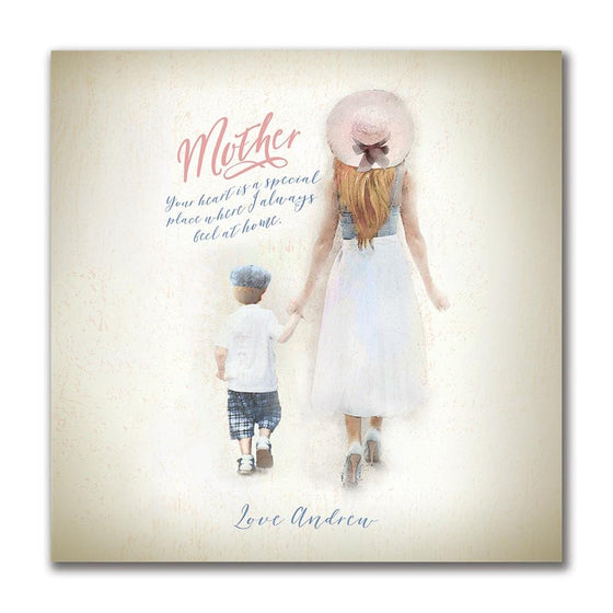 Personalized Mother's Day keepsake - Mom and Son Personalized Gift