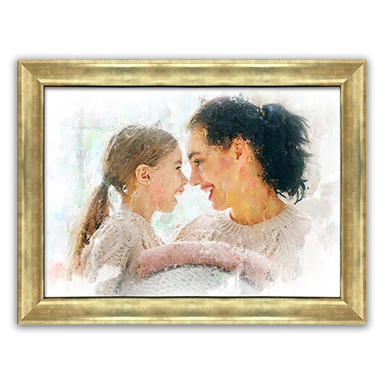 Custom Impressionist Portraits from Personal Prints