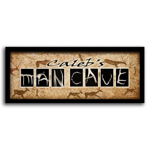 Personalized Man Cave Sign - Framed Canvas