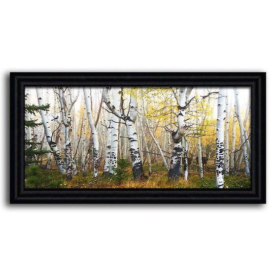 Aspen tree art featuring a forest scene - Personal-Prints