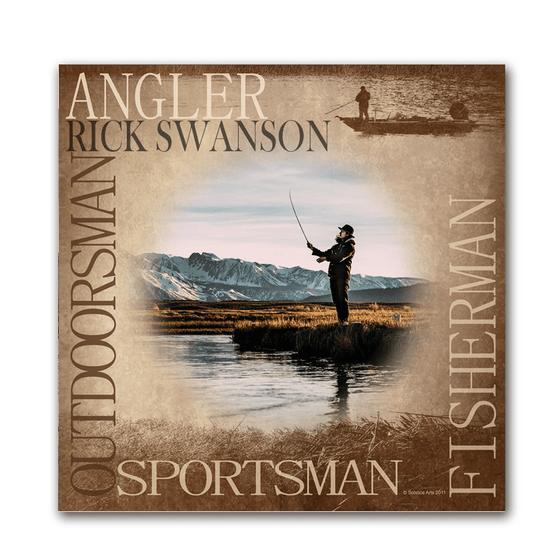 Angler Your Photo to Art Art Print- Mounted to Wood Block
