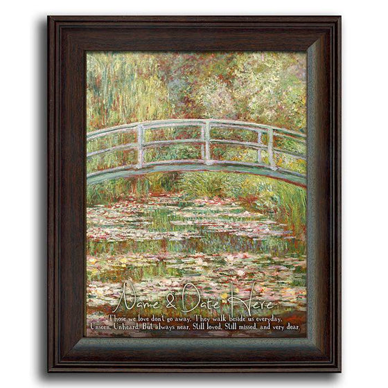 "Claude Monet's ""Bridge Over a Pond of Water Lilies"" personalized with your name - Personal-Prints"