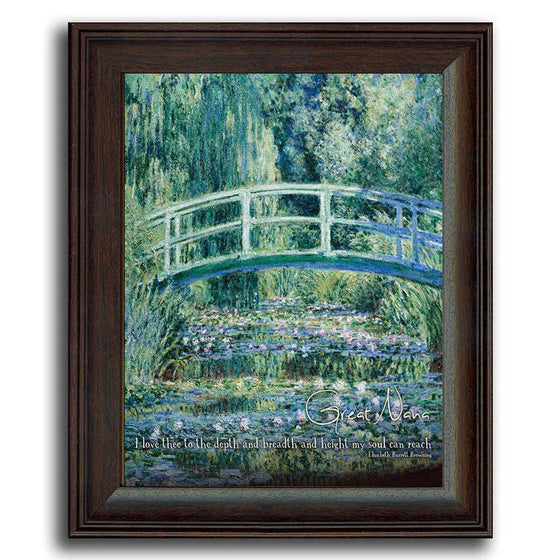 Personalized Framed Art - Monet's White Water Lillies - Personal-Prints