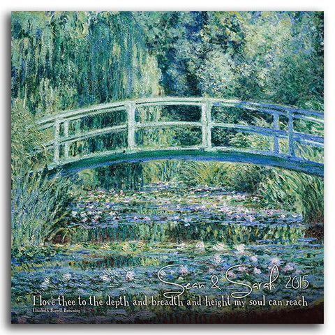 Monet's White Water Lilies - Block Mount Option