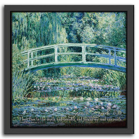 Monet's White Water Lilies - Framed Canvas