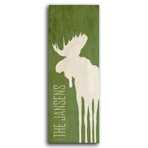 Personalized Art - Moose Silhouette Decor