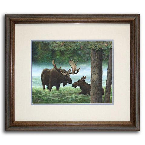 Moose & Spruce Original Watercolor by Tyler Kennedy