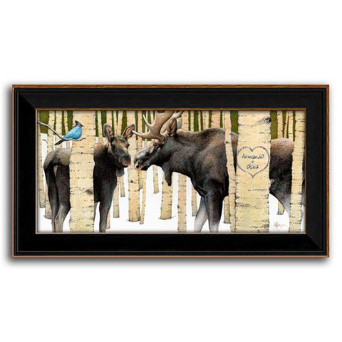Personalized Art Moose Tracks - Framed Canvas