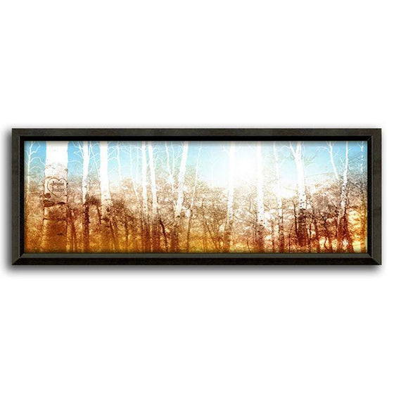 Personalized art of an aspen tree forest at sunrise - Personal-Prints