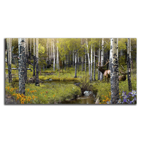 Personalized framed nature art of a forest scene with animals - Personal-Prints