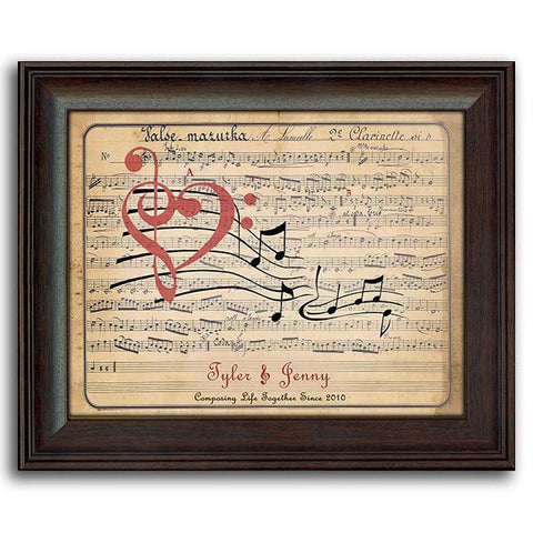 Music Of Love - Framed Under Glass