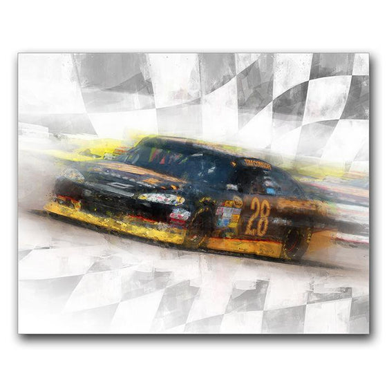 Personalized Sports Artwork - Stock Car Racing Gift