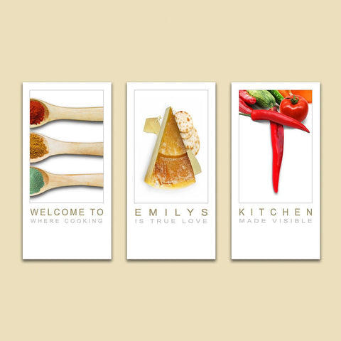 EAT Name Art - Triptych