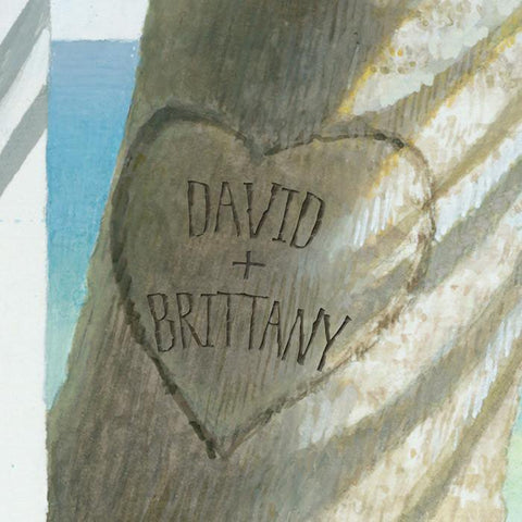 Our Island Getaway Personalized Art Detail