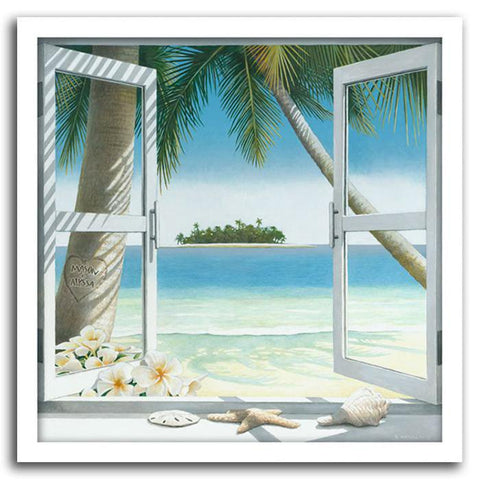 Our Island Getaway - Framed Canvas