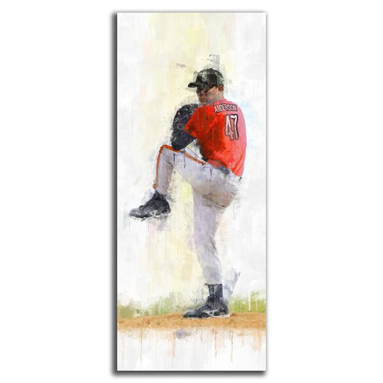 Baseball Pitcher Sports Art
