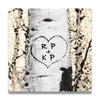 Quaking Aspens Personalized Art Detail - Initials in Heart