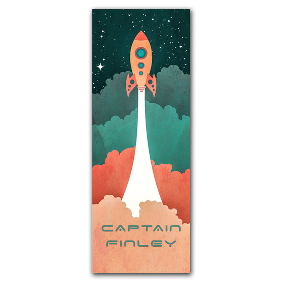 Personalized Gift for a Kid - Their name in the Rocket Space Art