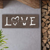 Rustic Wood finish of personalized LOVE romantic art decor including yours and your family names