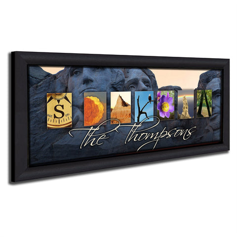SOUTH DAKOTA - State Name Art