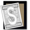 Monogram Coloring Page - S