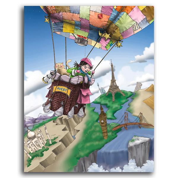 Sailing the 7 Wonders - Personalized Art Block Mount