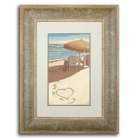 Original personalized watercolor painting ocean beach art by artist Scott Kennedy