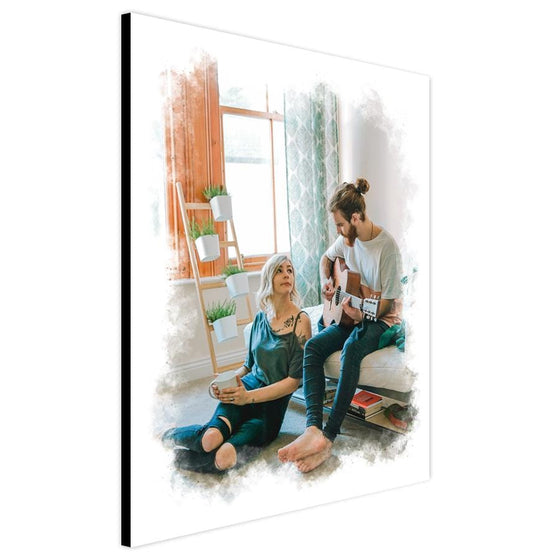 Turn your photo into a watercolor art portrait