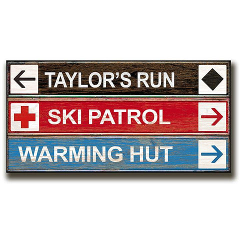 Personalized Ski / Snowboarding Sign