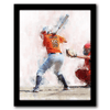 Softball canvas sports wall art - personalized name on jersey from personal-prints
