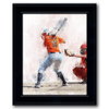 framed watercolor sports art personalized softball gift from personal-prints