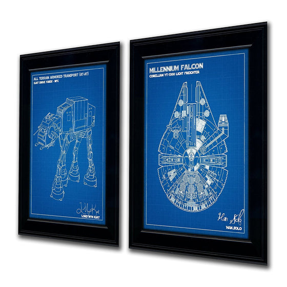 Star wars blueprint poster with personalization - Personal-Prints