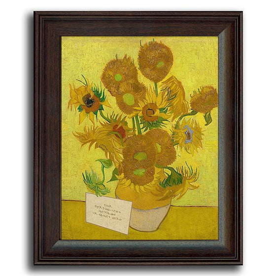 "Personalized Vinvent Van Gogh print of ""Vase With Twelve Sunflowers"" - Personal-Prints"