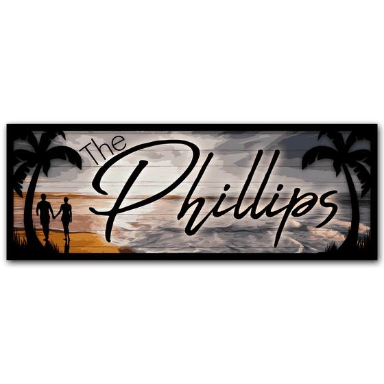 Personalized Beach Sign - Beach House Wall Decor from Personal-Prints
