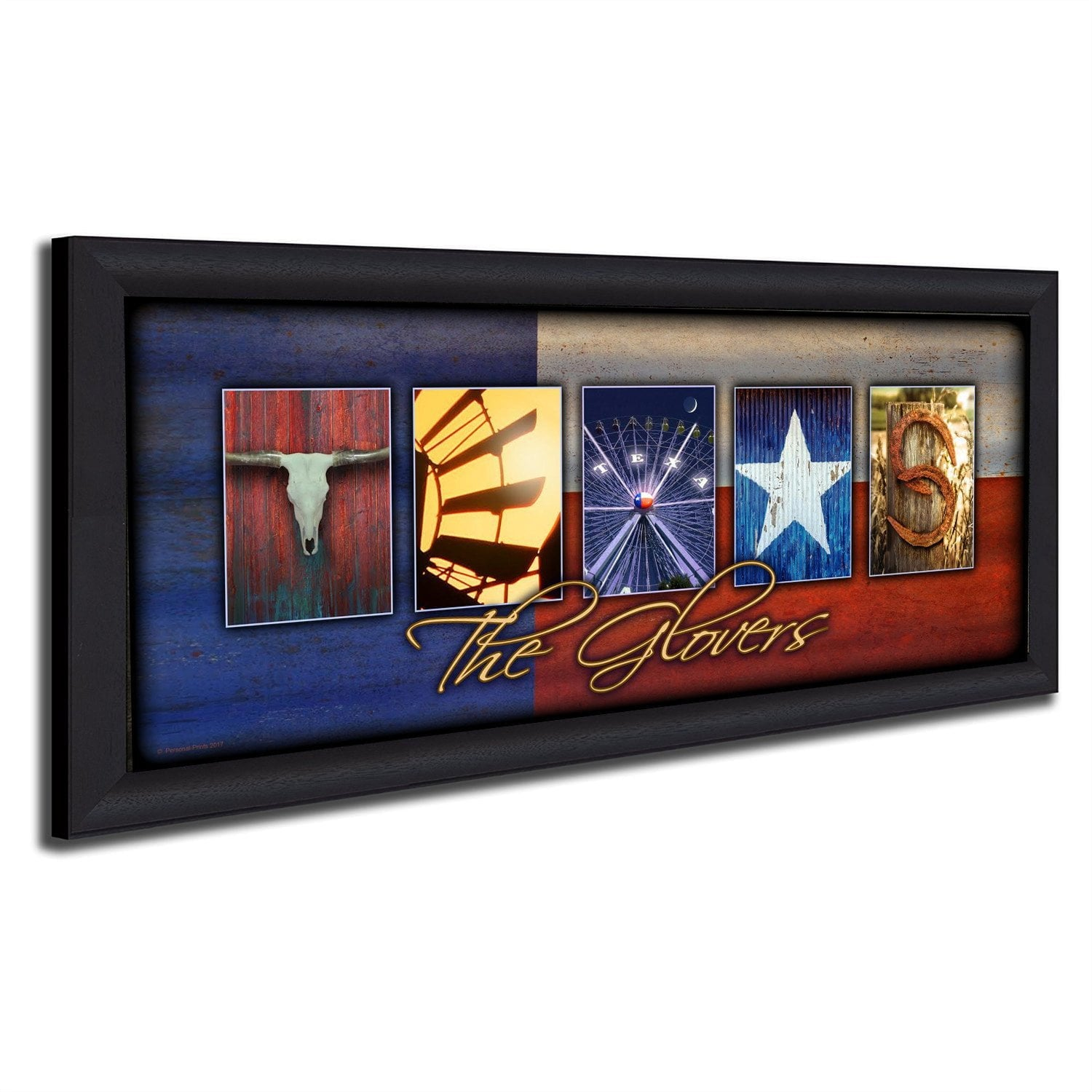 Framed Texas Art | State Art | Personalized Art - Personal-Prints