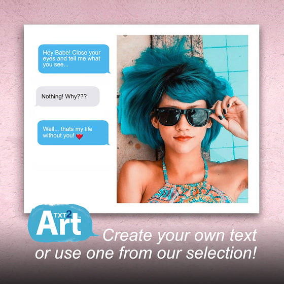 Cell phone photos and text messages to art - Personalized gift from Personal-Prints