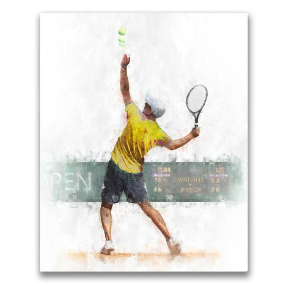 Personalized sports artwork - Mens tennis personalized gift from Personal-Prints