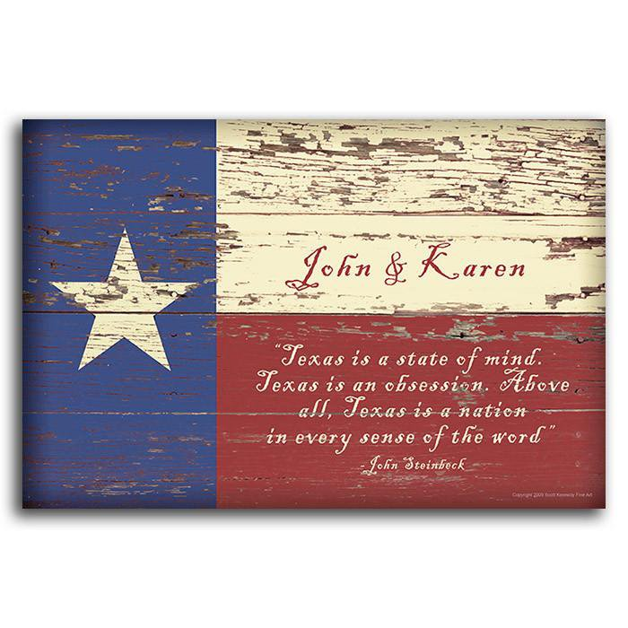 Texas Flag - Block Mount