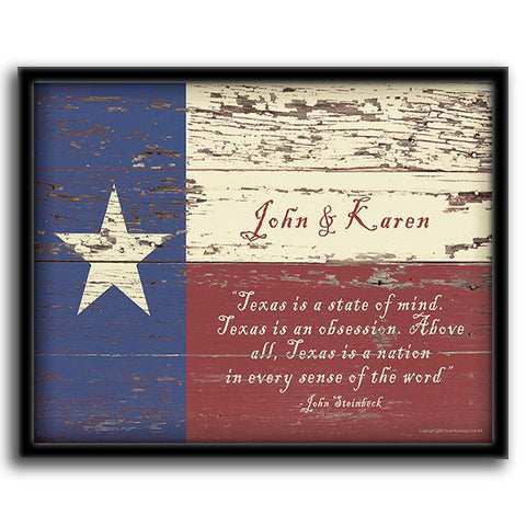 Texas State Flag - Framed