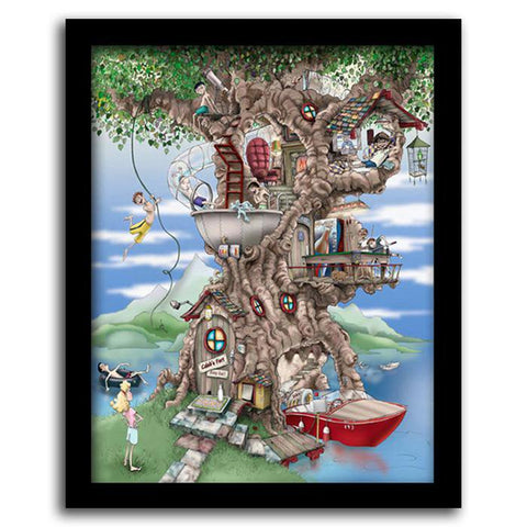 The Ultimate Tree House - Framed Canvas