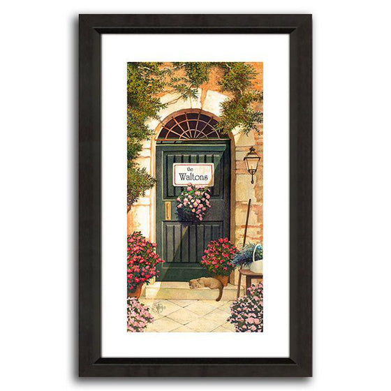 Personalized Tuscany painting of a door frame - Personal-Prints