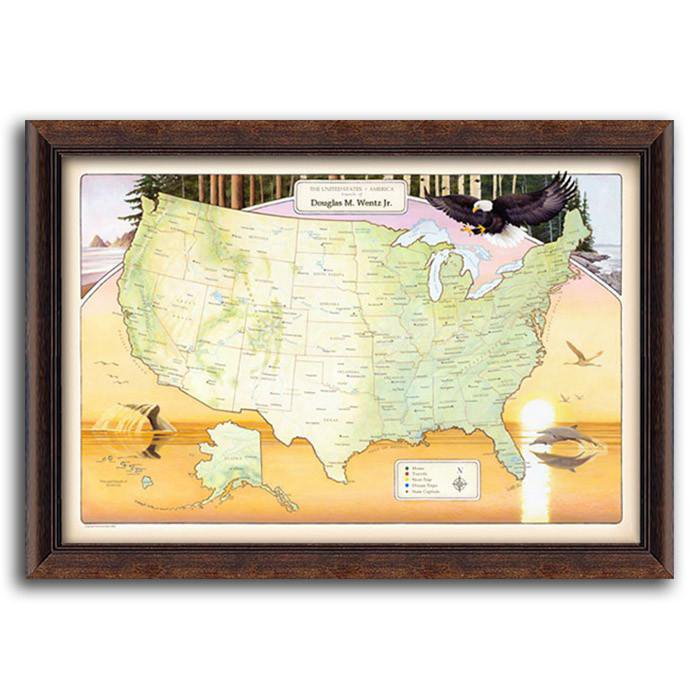 USA Nature Travel Map - personalized travel map