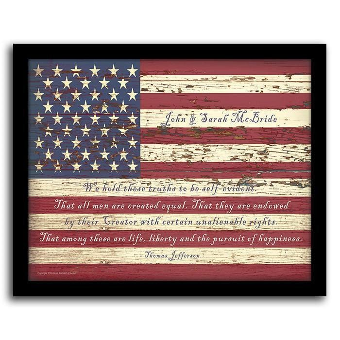 American Flag; Wood American Flag Wall Art ...