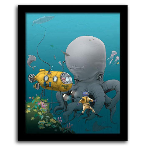 Underwater Adventure - Framed Canvas
