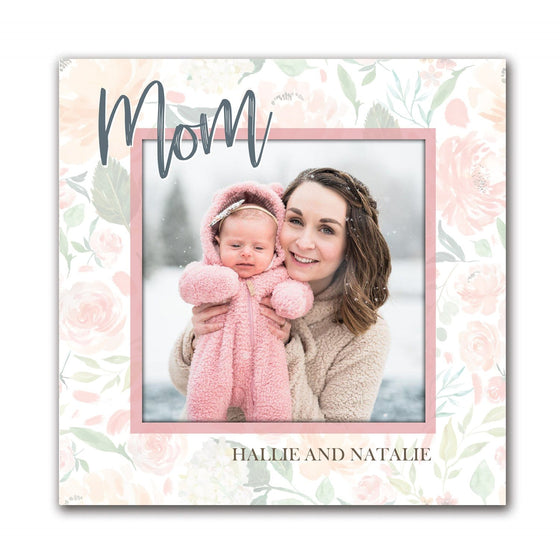 Turn Your Favorite Photo of Mom into Art and Customize it with Names or Words- Block Mount