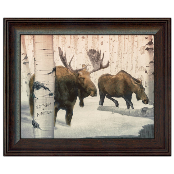 Back Country Moose Couple