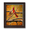 Framed behind glass option for birds of a feather cardinal art decor for the home