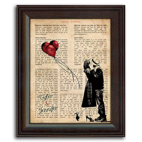Amour Eternel Framed Under Glass