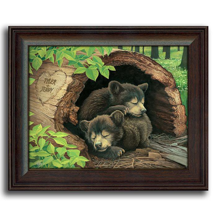 Bear Cubs - Framed Under Glass